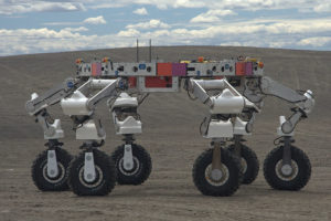 Prototype Athlete rover being tested